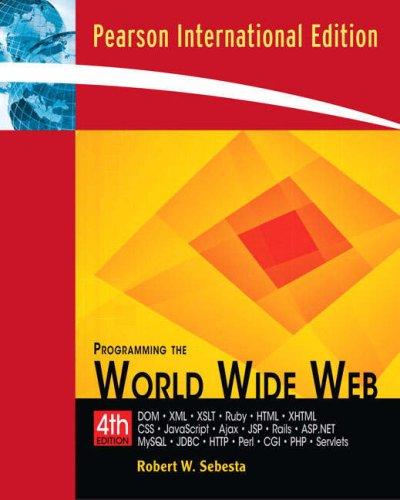9780321526724: Programming the World Wide Web: International Edition