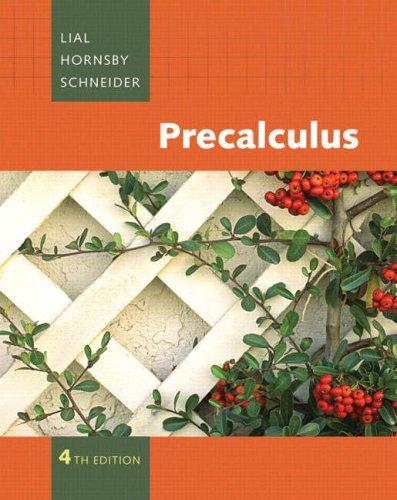 Precalculus: John E. Hornsby;