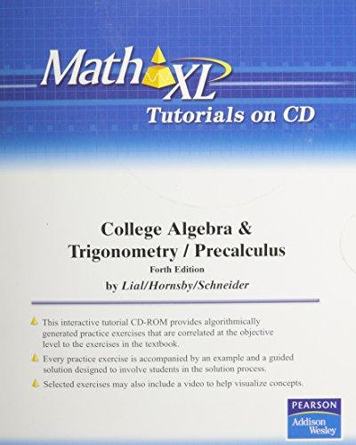 9780321529275: MathXL Tutorials on CD for College Algebra and Trigonometry and Precalculus