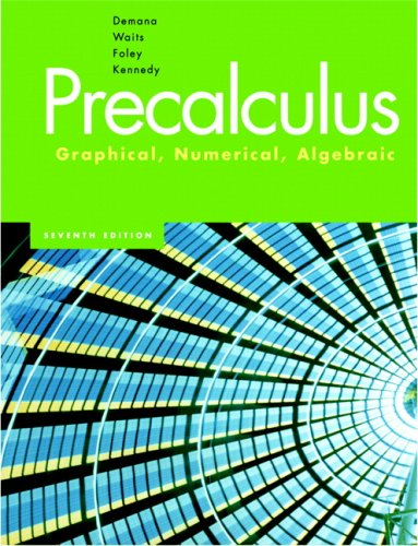 Precalculus: Graphical, Numerical & Algebraic Value Pack (includes Graphing Calculator Manual and MathXL 12-month Student Access Kit) (9780321530042) by Franklin Demana; Bert K. Waits; Gregory D. Foley; Daniel Kennedy