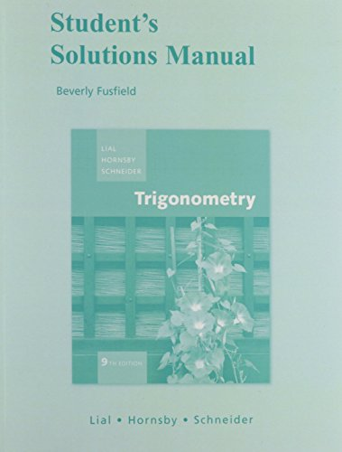 9780321530400: Student Solutions Manual for Trigonometry