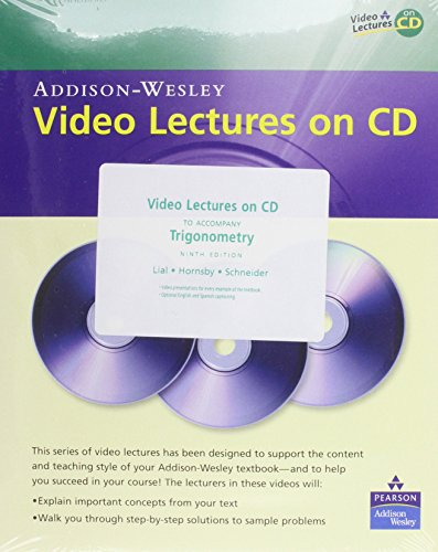 9780321530530: Video Lectures on CD with Optional Captioning for Trigonometry