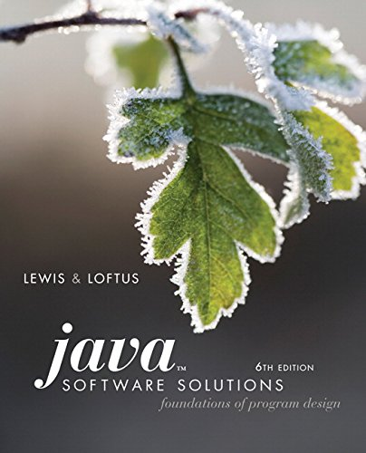 9780321532053: Java Software Solutions: Foundations of Program Design (6th Edition)
