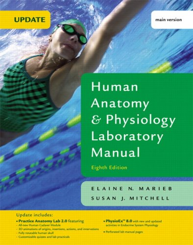 9780321535955: Human Anatomy & Physiology Laboratory Manual with PhysioEx 8.0, Main Version, Update (8th Edition)