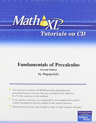 9780321536464: MathXL Tutorials on CD for Fundamentals of Precalculus