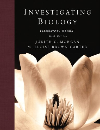 9780321536600: Investigating Biology Lab Manual (6th Edition)