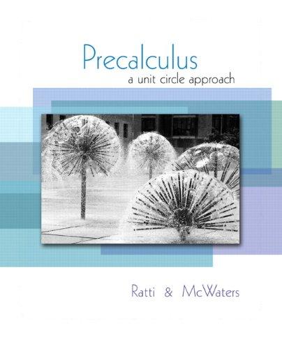 9780321537096: Precalculus: A Unit Circle Approach