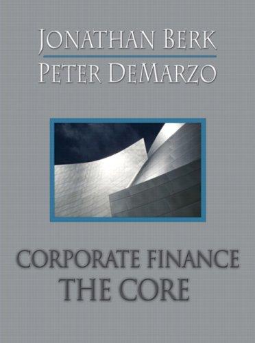 9780321540096: Corporate Finance: The Core