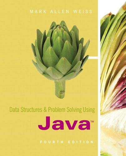 9780321541406: Data Structures and Problem Solving Using Java (4th Edition)
