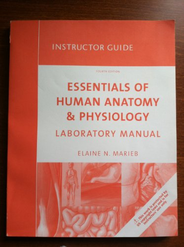 9780321541550: Instructor Guide Essentials of Human Anatomy & Physiology Laboratory Manual Fourth Edition