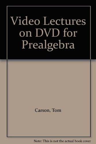 9780321542724: Video Lectures on DVD for Prealgebra
