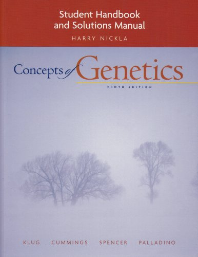 9780321544605: Student Handbook and Solutions Manual for Concepts of Genetics