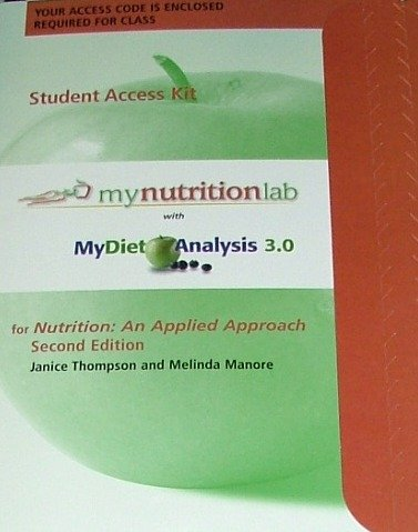 9780321545770: MyNutritionLab® with MyDietAnalysis Student Access Code Card for Nutrition: An Applied Approach