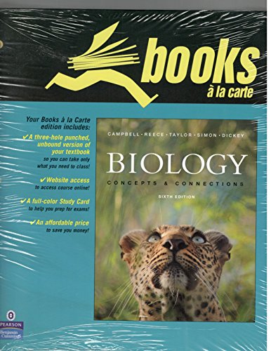 9780321547897: Biology: Books a La Carte: Concepts and Connections (Text Component)