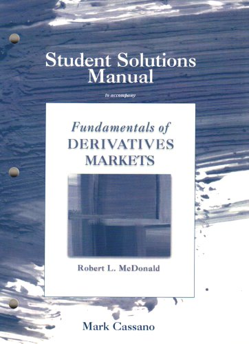 9780321548146: Student Solutions Manual for Fundamentals of Derivatives Markets