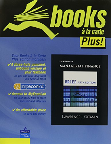 9780321548528: Principles of Managerial Finance, Brief, Student Value Edition (5th Edition)