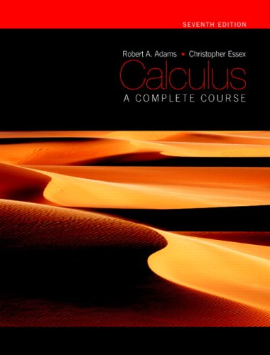 9780321549280: Calculus: A Complete Course, Seventh Edition (7th Edition)
