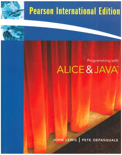 9780321549358: Programming with Alice and Java: International Edition