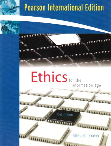 9780321549365: Ethics for the Information Age: International Edition