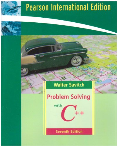 9780321549402: Problem Solving with C++: International Edition