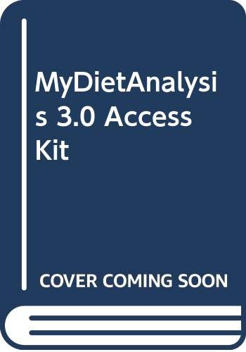 MyDietAnalysis 3.0 Access Kit: Benjamin Cummings