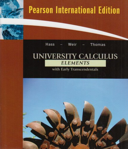 9780321552105: University Calculus: Elements with Early Transcendentals: International Edition