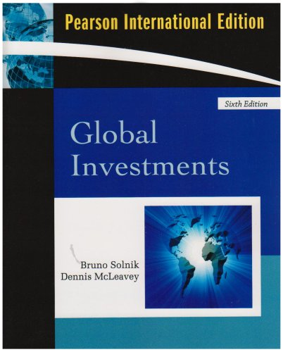 9780321552129: Global Invesments : International Edition Edition 6