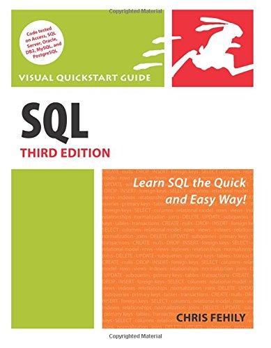 9780321553577: SQL: Visual QuickStart Guide (3rd Edition)