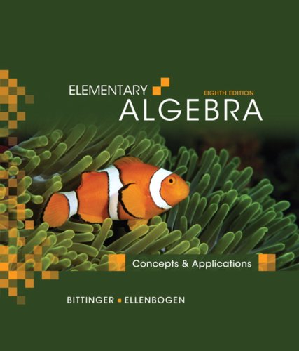 9780321557179: Elementary Algebra: Concepts and Applications (8th Edition)
