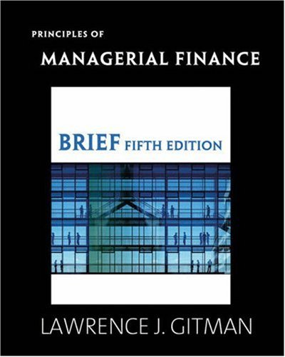 9780321557520: Principles of Managerial Finance Brief plus MyFinanceLab Student Access Kit (5th Edition)