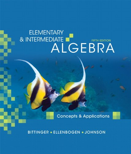 9780321559449: Elementary & Intermediate Algebra: Concepts and Applications (5th Edition)