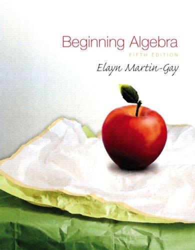 9780321560292: Beginning Algebra Value Pack (includes DVD & Student Solutions Manual for Beginning Algebra) (5th Edition)