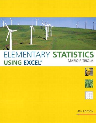 9780321564962: Elementary Statistics Using Excel - AbeBooks