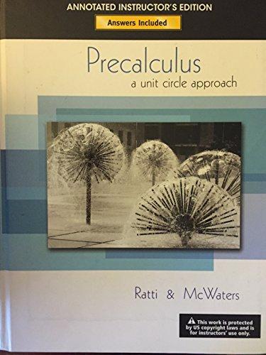 9780321565075: Precalculus: A Unit Circle Approach