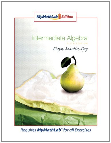 9780321566713: Intermediate Algebra, MyMathLab Edition (5th Edition)