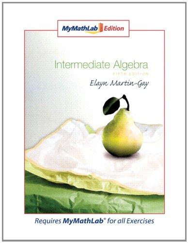 9780321566713: Intermediate Algebra, MyMathLab Edition (5th Edition)