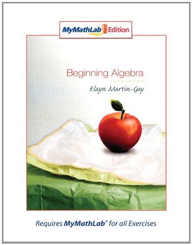 9780321566737: Beginning Algebra, MyMathLab Edition (5th Edition)