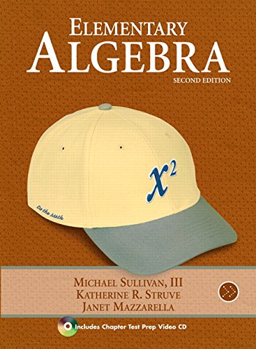 9780321567482: Chapter Test Prep Video (component) for Elementary Algebra (Sullivan/Struve/Mazzarella Algebra)