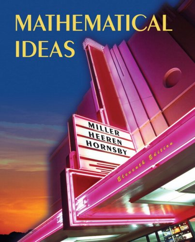 9780321568922: Mathematical Ideas Value Package (includes Student's Study Guide and Solutions Manual for Mathematical Ideas) (11th Edition)