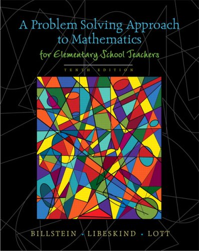 9780321570550: A Problem Solving Approach to Mathematics for Elementary School Teachers (10th Edition)
