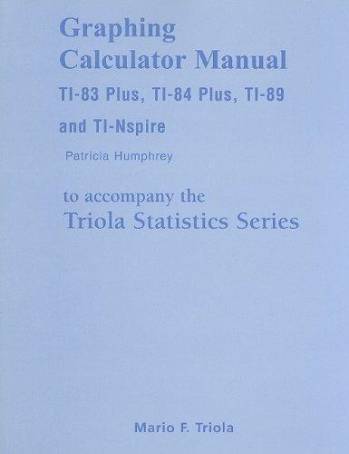 9780321570611: Graphing Calculator Manual for the TI-83 Plus, TI-84 Plus, TI-89, and TI-Nspire for the Triola Statistics Series