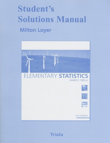 9780321570628: Student Solutions Manual for Elementary Statistics