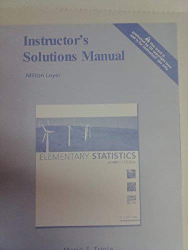 9780321570673: Instructor's Solution Manual - Elementary Statistics