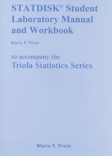 9780321570697: STATDISK Manual for the Triola Statistics Series