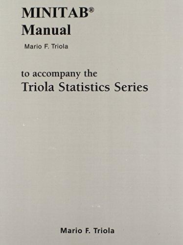 9780321570819: Minitab Manual for the Triola Statistics Series