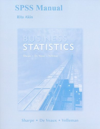 SPSS Manual for Business Statistics: Rita Akin