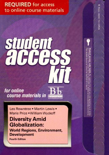 Blackboard Student Access Kit for Diversity Amid: Rowntree, Lester, Lewis,