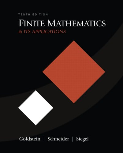 9780321571892: Finite Mathematics & Its Applications (10th Edition)