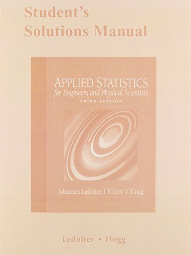 9780321572714: Student Solutions Manual for Applied Statistics for Engineers and Physical Scientists