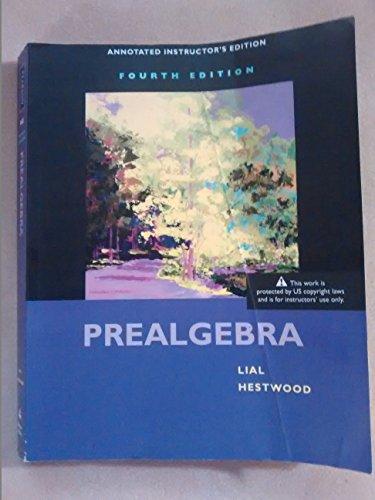 9780321574725: Prealgebra